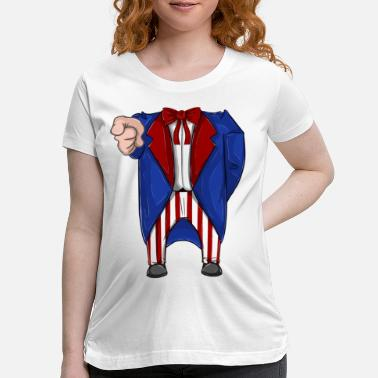 Uncle Sam Costume Gift Idea Shirts for Toddler - Maternity T-Shirt
