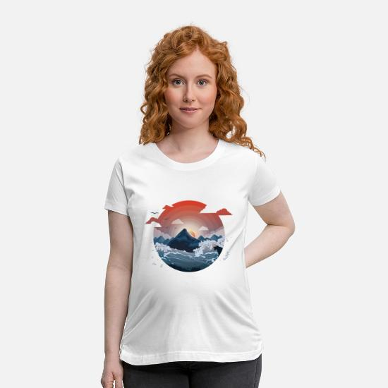 Cloud T-Shirts - Surrounded by storm - Maternity T-Shirt white