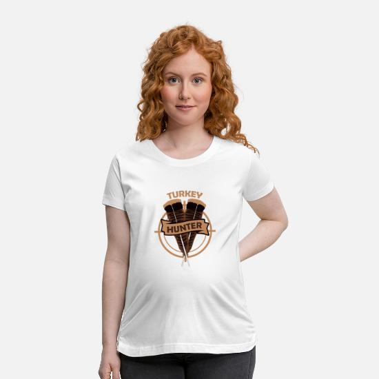 Crossbow T-Shirts - Turkey Hunter Gobble Hunting - Maternity T-Shirt white