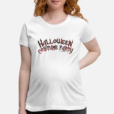 Annual Party second annual halloween costume party png 20 - Maternity T-Shirt