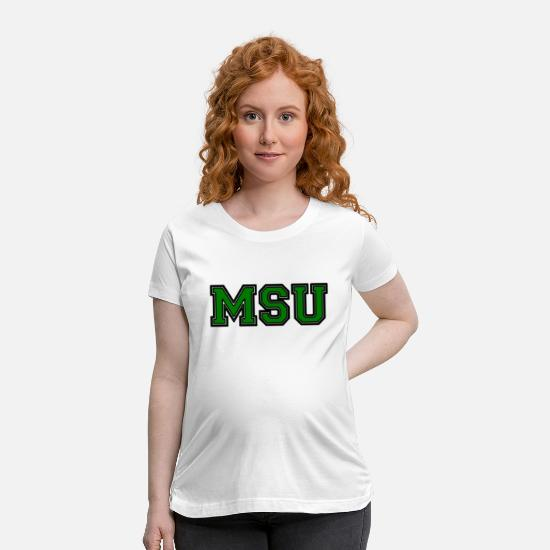 Michigan T-Shirts - Michigan State Spartans - Maternity T-Shirt white