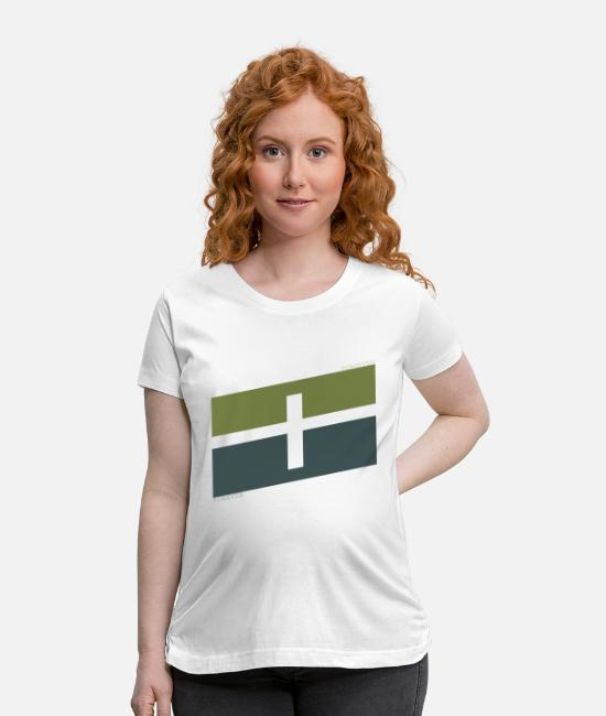 Geometry T-Shirts - forgiven forever cross - Maternity T-Shirt white