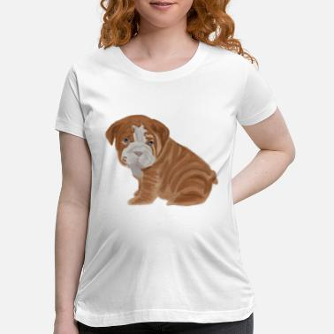 Bulldog Puppy bulldog puppy - Maternity T-Shirt