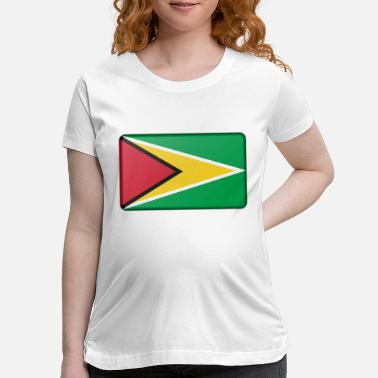 Flag Of Guyana Flag of Guyana (bevelled) - Maternity T-Shirt