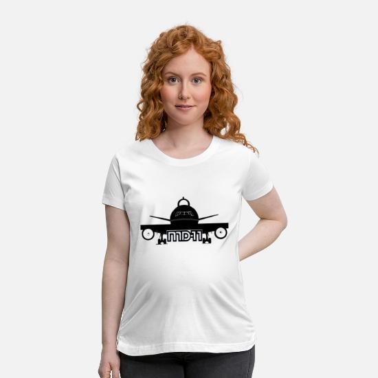 Aviation T-Shirts - MD 11 - Maternity T-Shirt white