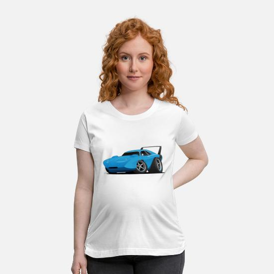 Muscle T-Shirts - Classic American Winged Muscle Car Hot Rod - Maternity T-Shirt white