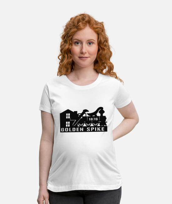 Line T-Shirts - Railroad Logo - Maternity T-Shirt white