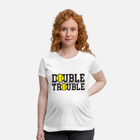 Double T-Shirts - double trouble - Maternity T-Shirt white
