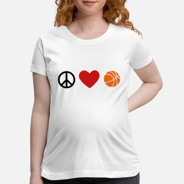Love And Basketball peace, love, basketball - Maternity T-Shirt