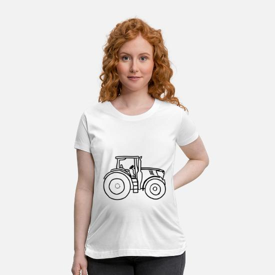 Tractor T-Shirts - tractor - Maternity T-Shirt white