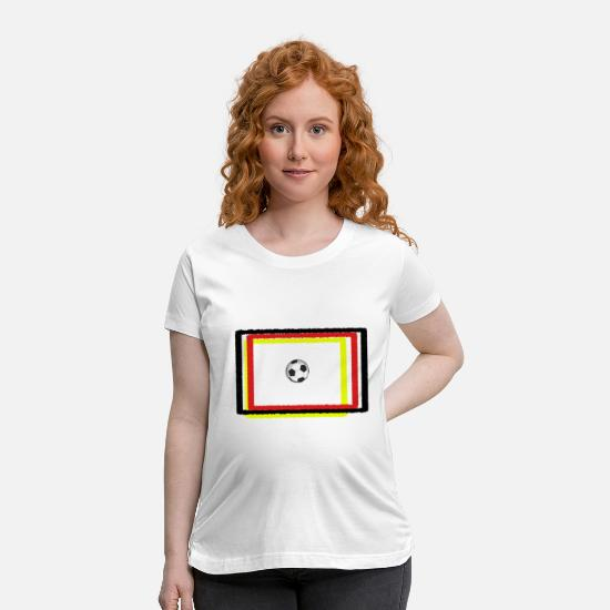 Birthday T-Shirts - football soccer germany german nation flag gift - Maternity T-Shirt white