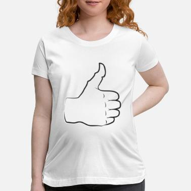 All Right Thumbs up everything is good and all right praise - Maternity T-Shirt