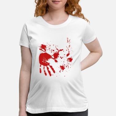 Undead blood Hand Halloween Butcher Doctor - Maternity T-Shirt