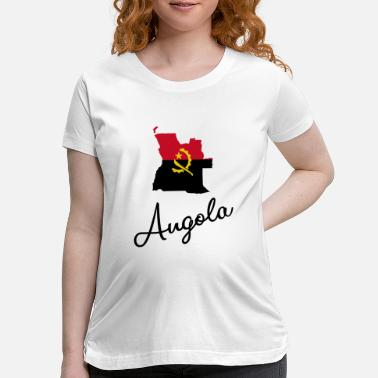 National Colors Angola - Africa - National Colors - Map - Maternity T-Shirt