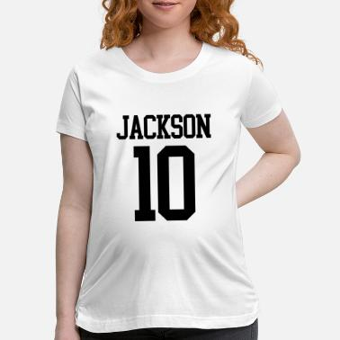 Jersey Number Jackson Jersey Number (black) - Maternity T-Shirt