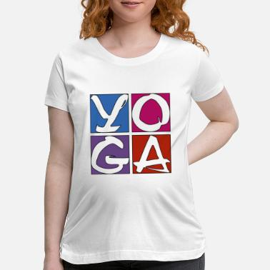 Trend YOGA Exercise Cute Design - Maternity T-Shirt