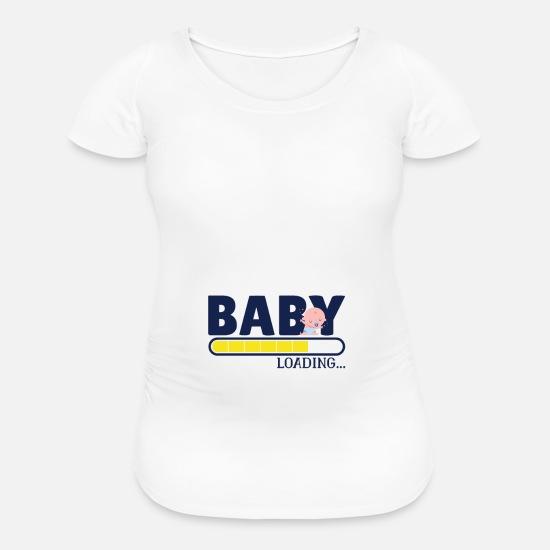 cc44c9dba0134 Maternity Shirt Baby loading with cute baby print Maternity T-Shirt ...