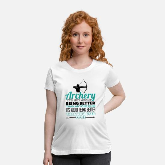 Archer T-Shirts - Archer Archery Funny Gift - Maternity T-Shirt white