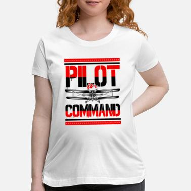 Private Pilot Airplane Aircraft Aviator Commercial Privat Pilot - Maternity T-Shirt