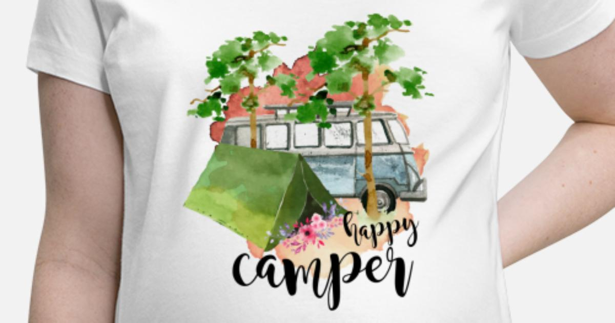 a66d4aeb Happy Camper Maternity T-Shirt | Spreadshirt
