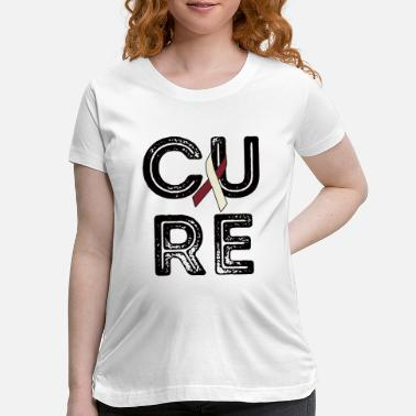 Cure Cancer Cure Head and Neck Cancer - Maternity T-Shirt