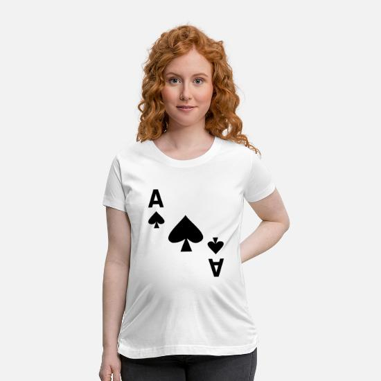 Ace Of Spades T-Shirts - Card game Ace of spades - Maternity T-Shirt white