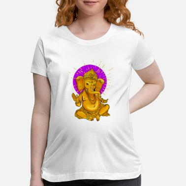 Buddhism ganesha gold elephant Yoga india god meditation lo - Maternity T-Shirt