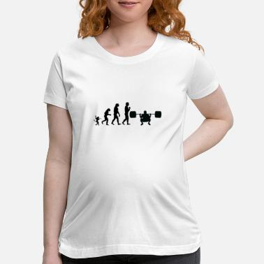 Weights weight lifting evolution, #weight lifting - Maternity T-Shirt
