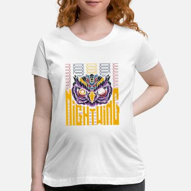 Night Owls Owl night owl barn owl gift night - Maternity T-Shirt