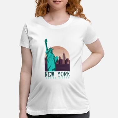 Nyc New York United States - Maternity T-Shirt