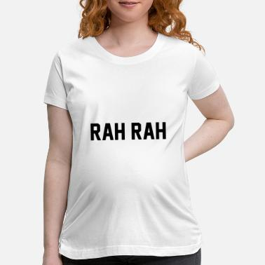 Block rah rah gameday with black block letters game - Maternity T-Shirt