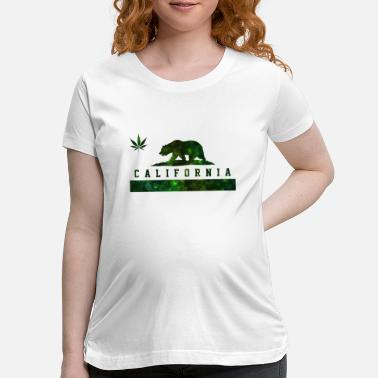 California California Cannabis - Weed Marijuana Flag Bear - Maternity T-Shirt