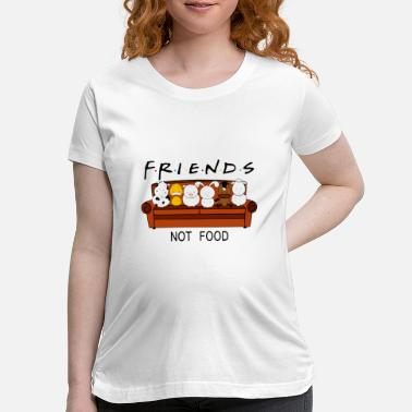Food friends not food sheep not eat meat watch tv happy - Maternity T-Shirt