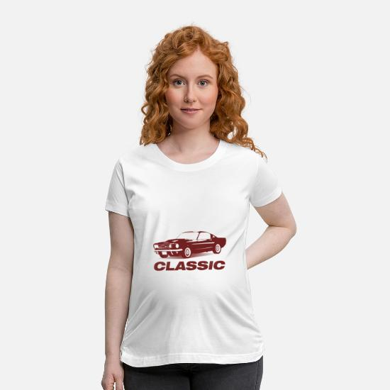 Classic T-Shirts - Classic car is a muscle car - Maternity T-Shirt white
