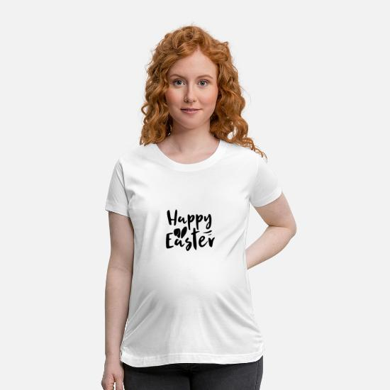 Love T-Shirts - Happy Easter Bunny Easter Egg - Maternity T-Shirt white