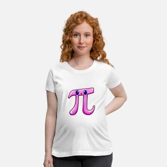 Birthday T-Shirts - Cutie Pi Day - Maternity T-Shirt white