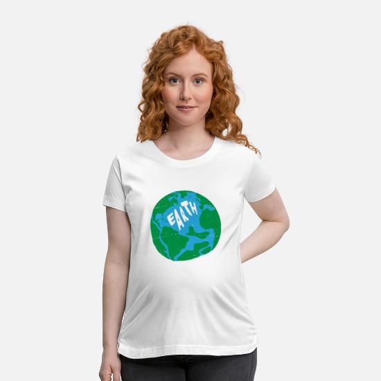 Save The World T-Shirts - earth save the planet save the world - Maternity T-Shirt white