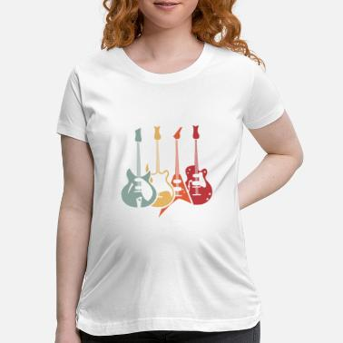 Bassist Retro Guitars Bass Funny Guitarist Bassist Gift - Maternity T-Shirt