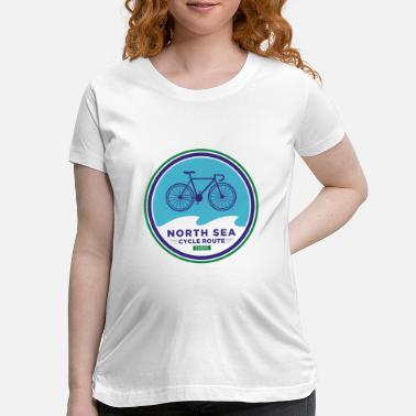 North Sea North Sea Cycle Route - Europe - Maternity T-Shirt