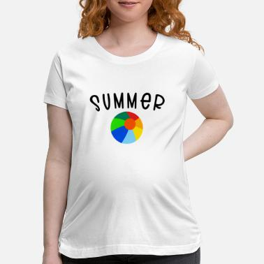Beachball SUMMER beachball - Maternity T-Shirt