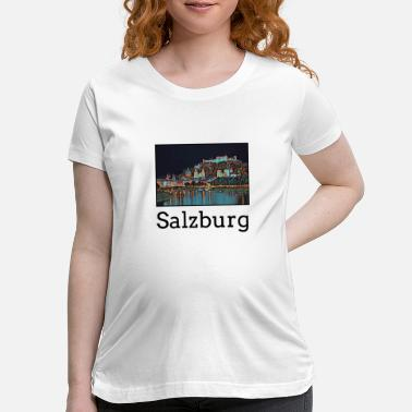 Salzburg Salzburg City Skyline Sights Silhouette Landmark - Maternity T-Shirt
