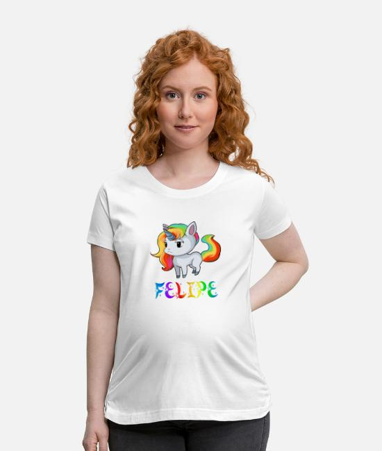 Felipe Birth T-Shirts - Felipe Unicorn - Maternity T-Shirt white