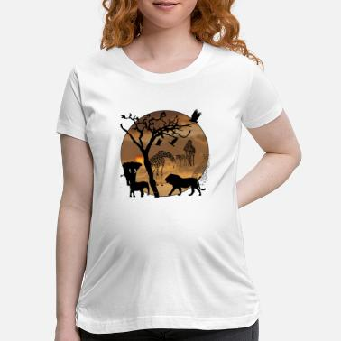 Safari Safari African Jungle Wild Animals t-shirts - Maternity T-Shirt