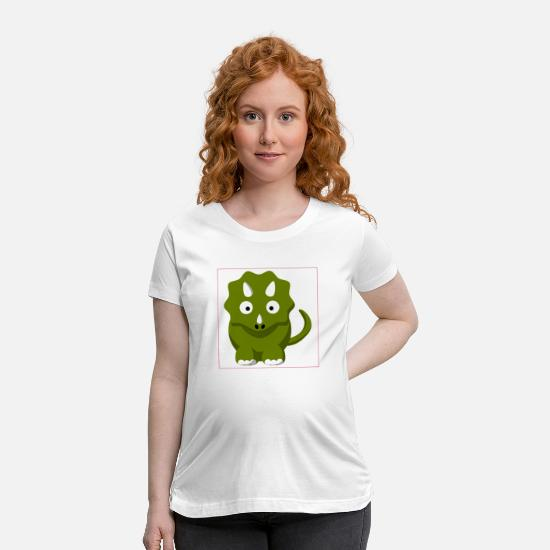 Gift Idea T-Shirts - Dino - Maternity T-Shirt white