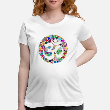 Buddhism Colorful Om Symbol - Maternity T-Shirt