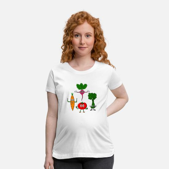 Vegetable T-Shirts - Different vegetables - Maternity T-Shirt white