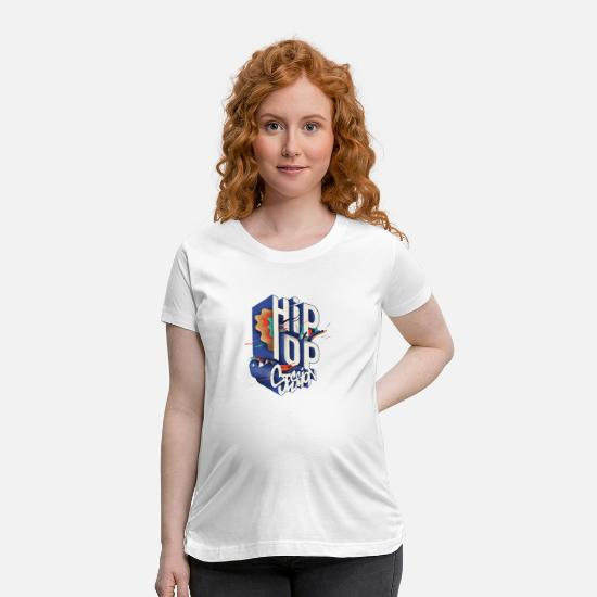 Hip Hop T-Shirts - Hip Hop session - Maternity T-Shirt white