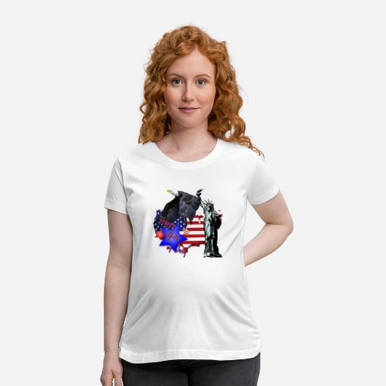 Usa T-Shirts - Independence day - Maternity T-Shirt white