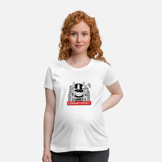Easter T-Shirts - corruptopoly meme - Maternity T-Shirt white