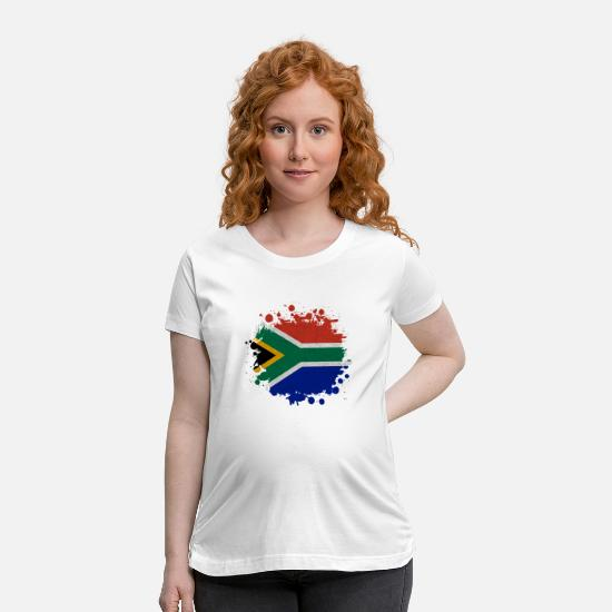 African T-Shirts - South Africa Klecks / Gift Cape Town Johannesburg - Maternity T-Shirt white